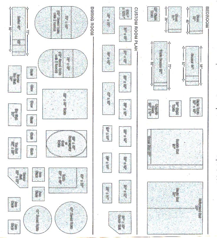 quarter inch scale templates, pg 1. No photos of what the ...