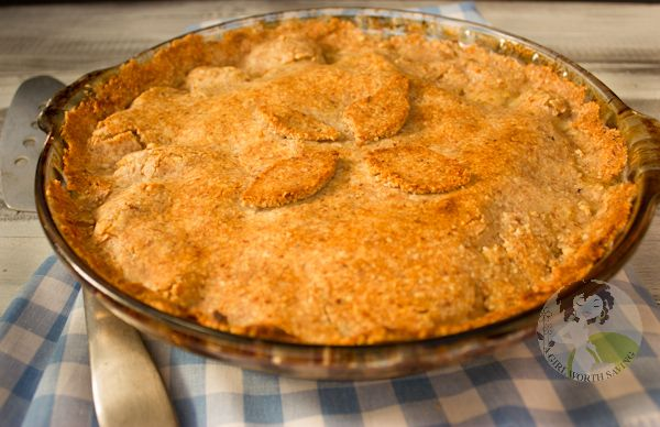 paleo chicken pot pie (w/ almond/coconut crust)  - Scroll down the comments for a note about soaking & dehydrating the almonds.
