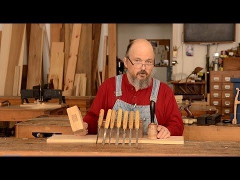 Beginner tools on educational video that gives simple suggestions for wood carving