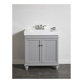 Shop For OVE Decors Amber 30 Inch Mist Grey Single Sink Bathroom Vanity. Get