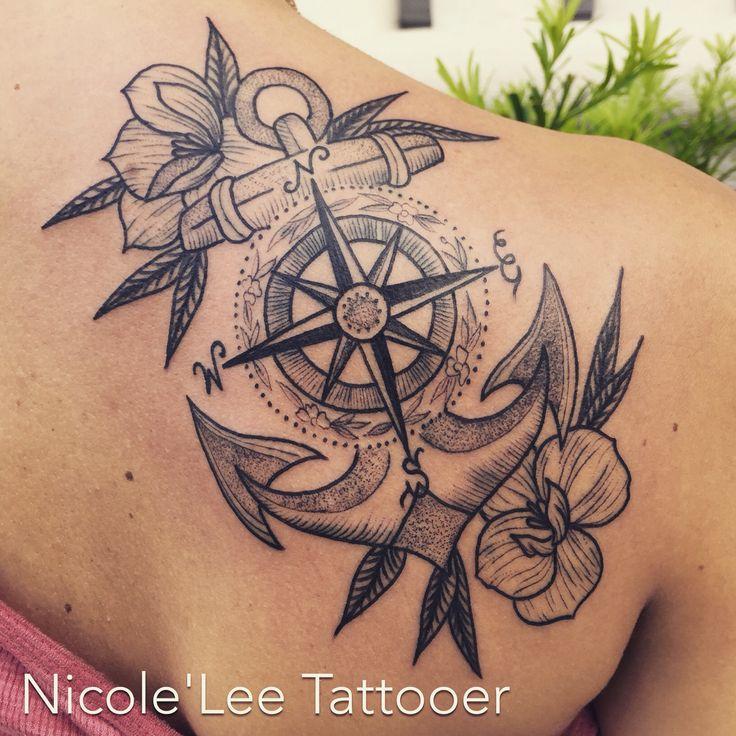 Anchor dot work tattoo