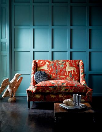 Arden Fabric from Zoffany - like the wall color