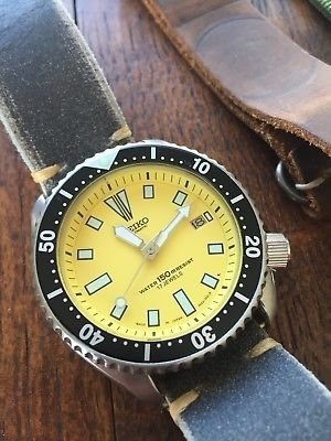62a069cbc Vintage SEIKO DIVER 7002-7000 Yellow Face mod   Watches   Seiko ...