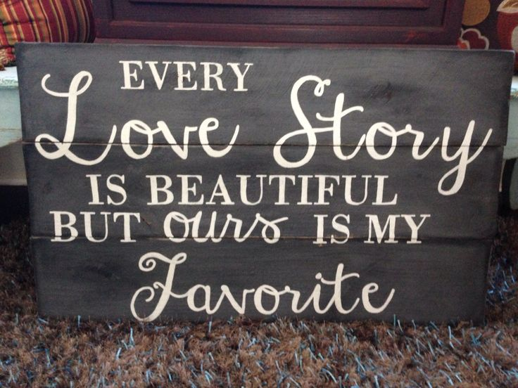 One of our many handcrafted signs.