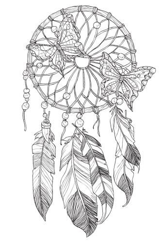 detailed dream catcher coloring pages - photo#10