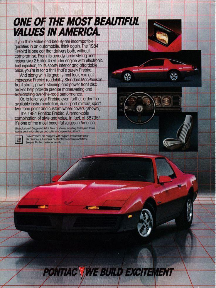 1984 Pontiac Firebird Red 2 5 Liter V 4 Cost 8 795 2 Door Original Magazine Ad In 2020 Pontiac Firebird Firebird Pontiac