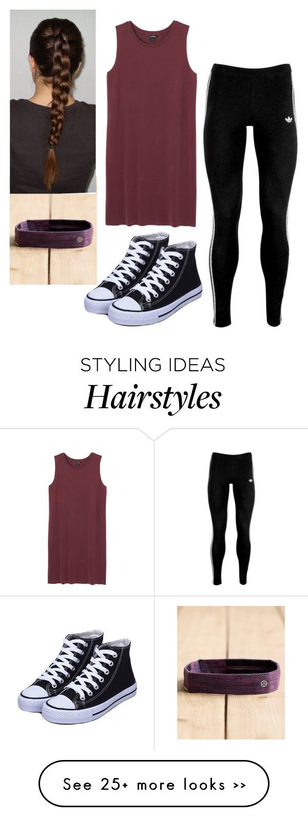 """Untitled #392"" by brunnette24189 on Polyvore featuring Monki, adidas Originals and lululemon"