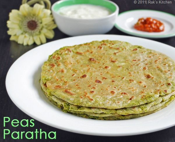 Peas paratha is easy to make when you have green peas season. This is a must try recipe with green peas.