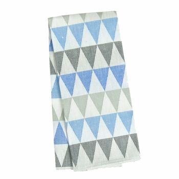 Lapuan Kankurit Harlekiini Blue Tea Towel - Click to enlarge