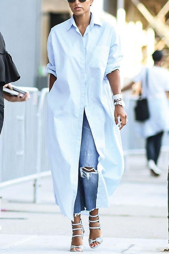 HOT Sukienka koszulowa może być też tuniką, do której założymy jeansy!
