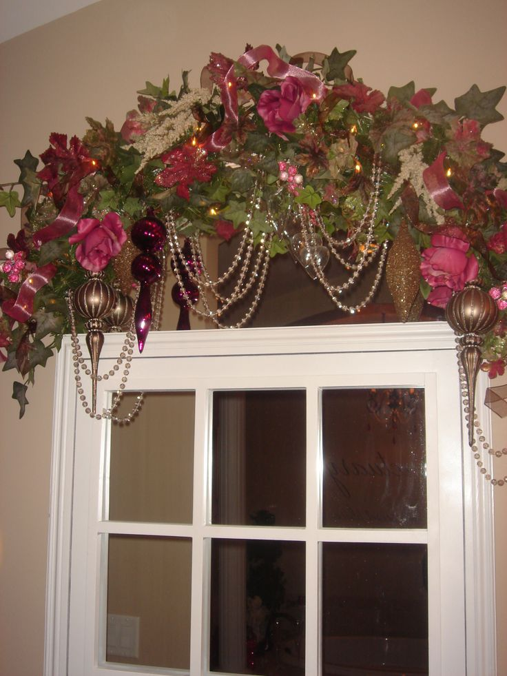 Floral Swags Windows