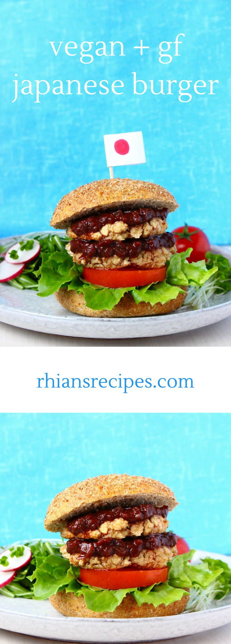 Vegan Japanese Tofu Burger - if you're looking for a slightly different, but absolutely delectable meat-free burger, you must try this! Also gluten-free.