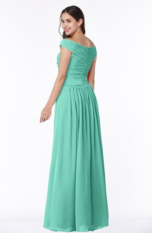 3b87aefb9220 Classic A-line Off-the-Shoulder Sleeveless Zip up Floor Length Plus Size