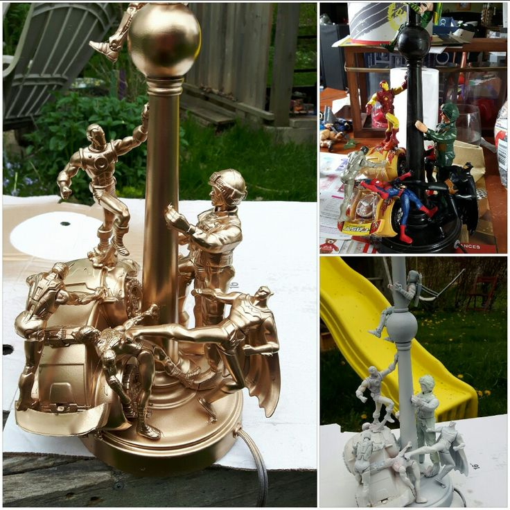 Gold super hero lamp