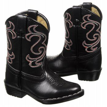 Toddler Boys Cowboy Boots | Kids Canyon Trails ' Lil Cowboy Black/White/Red FamousFootwear.com