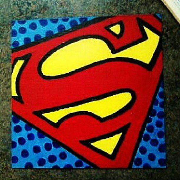 Superman acrylic painting -Kelsey Engles