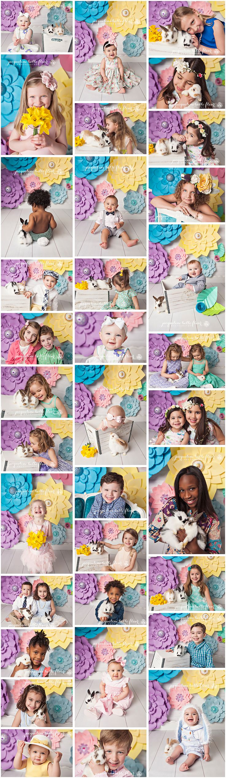 2015 Easter Mini Sessions with Live Bunnies for Children