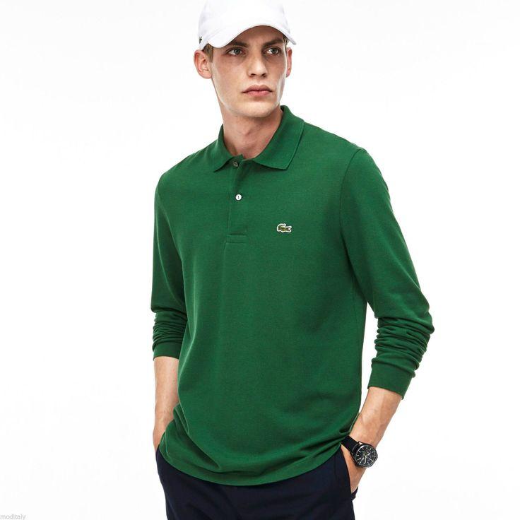 LACOSTE polo uomo maniche lunghe L1312 classic verde,blu,piquè di cotone,maglia   Abbigliamento e accessori, Uomo: abbigliamento, Altro abbigliamento uomo   eBay!