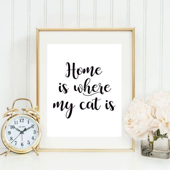 Printbare Poster, Is Home waar mijn kat, offerte afdrukken, Decor van het huis, motiverende Print, inspirerende citaat, typografie kunst aan de muur  ►► Voordat u uw bestelling, neem tijd om te lezen van de informatie hieronder. ◄◄   ►►Artwork ◄◄  Thuis Is waar mijn kat Is  ►► Hoe ontvang ik mijn afdrukbare bestanden ◄◄ _____________________________________________________  ~ Geen wachttijden ~ Instant Download ~ Geen verzendkosten ~ Afdrukken en het Frame zelf   ►► Wat doen krijg ik ◄◄…