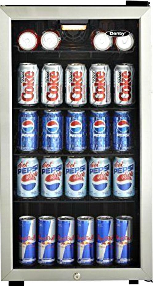 33cu ft beverage center cooler reversible glass door mini fridge danby