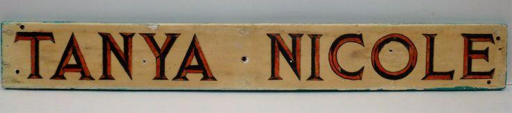 Antique Nova Scotia Quarterboard Original Hand Lettering