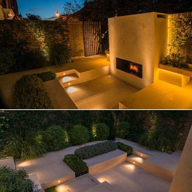 London Courtyard Garden Charlotterowegardens Gardendesign Hclgardens Gardenbuild Fireplace Outsidefireplace Lovelifeoutsi Outdoor Decor Outdoor Garden