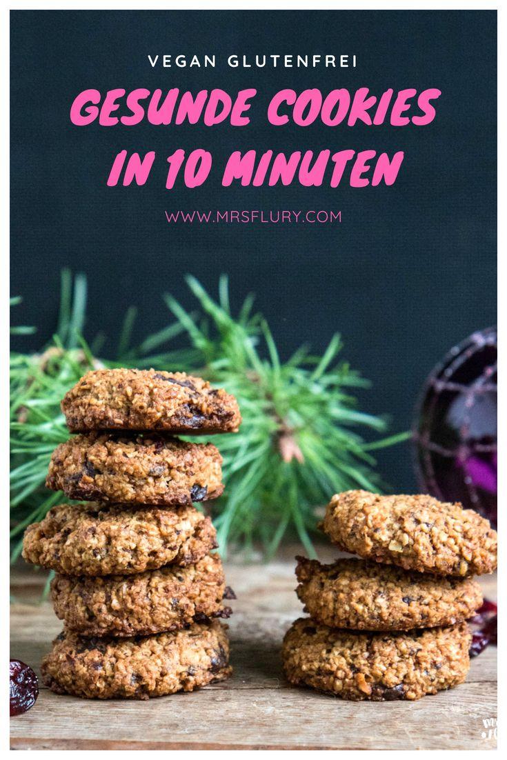 Gesunde Haferflocken Kekse in 10 Minuten