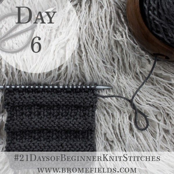 Learn How To Knit The Rib Stitch With This Easy