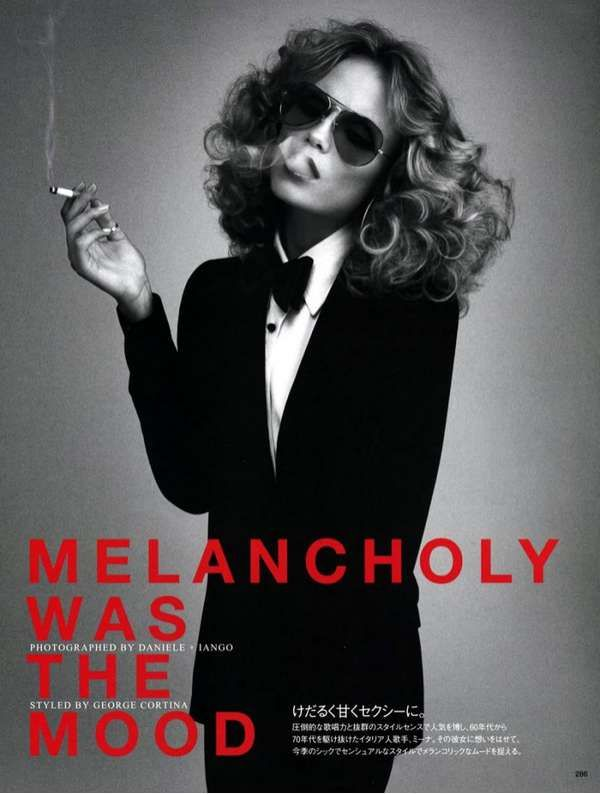Badass Androgynous Photoshoots  Vogue Japan's 'Melancholy Was The Mood' May 2012 Spread is Epicine