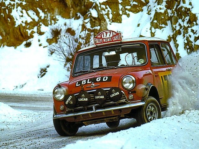 BMC Mini 1275 Cooper S Rauno Aaltonen winning the 1967 Rallye Monte Carlo