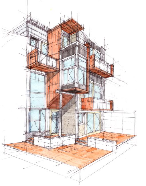 207 best images about modern brick buildings on pinterest for Cheap architectural drawings