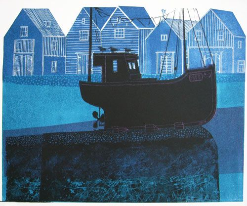 Sussex Boat and Huts A/P by Robert Tavener