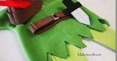 Hacer disfraz de Peter Pan en Fieltro para niño           La casaca verde, es decir, la parte de arriba del disfraz, toma las medidas y co...