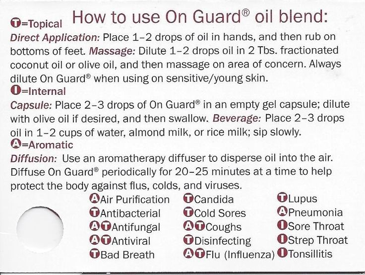 How to use On Guard oil blend (Immune Strength blend from Native American  Nutritionals)