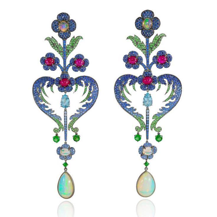 Lydia Courteille Topkapi opal earrings