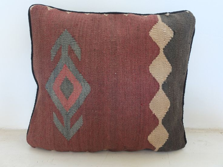 Handwoven Mediterranean Pillow Cover - Persian Red/Orange Accent - 14' Inch (36x36 cm) - Bohomian/Boho Vintage Cushion. See on Etsy: https://www.etsy.com/listing/197500563/handwoven-mediterranean-pillow-cover?ref=shop_home_active_8