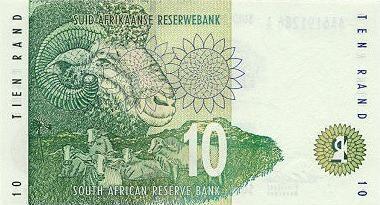 10 randów - rewers