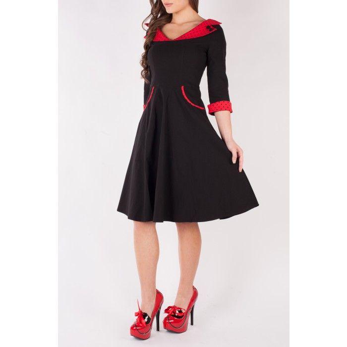 Vestito rosso e nero 3x