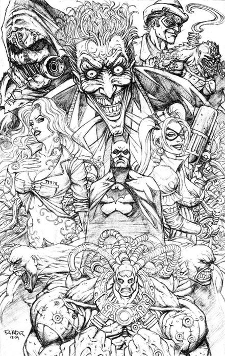 batman bane coloring pages batman arkham asylum montage frank kadar creating graphic