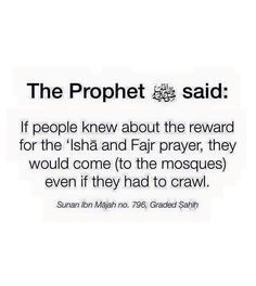 Huge reward for the Fajr & Ishaa prayers!