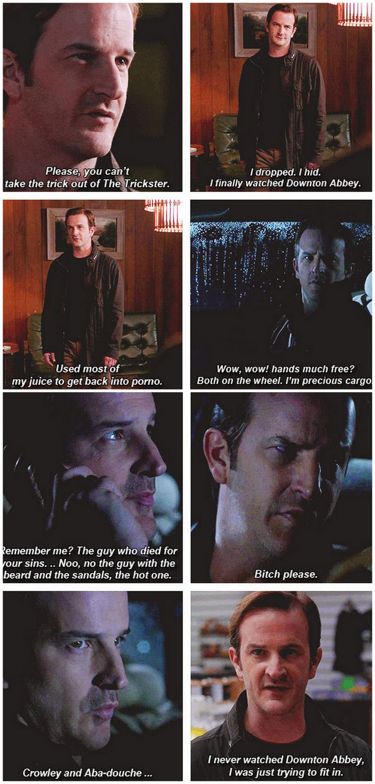 [gifset] 9x18 Meta Fiction Gabriel - so maybe he wasn't the Gabriel we wanted to but I was sooo happy to see an old beloved character <3