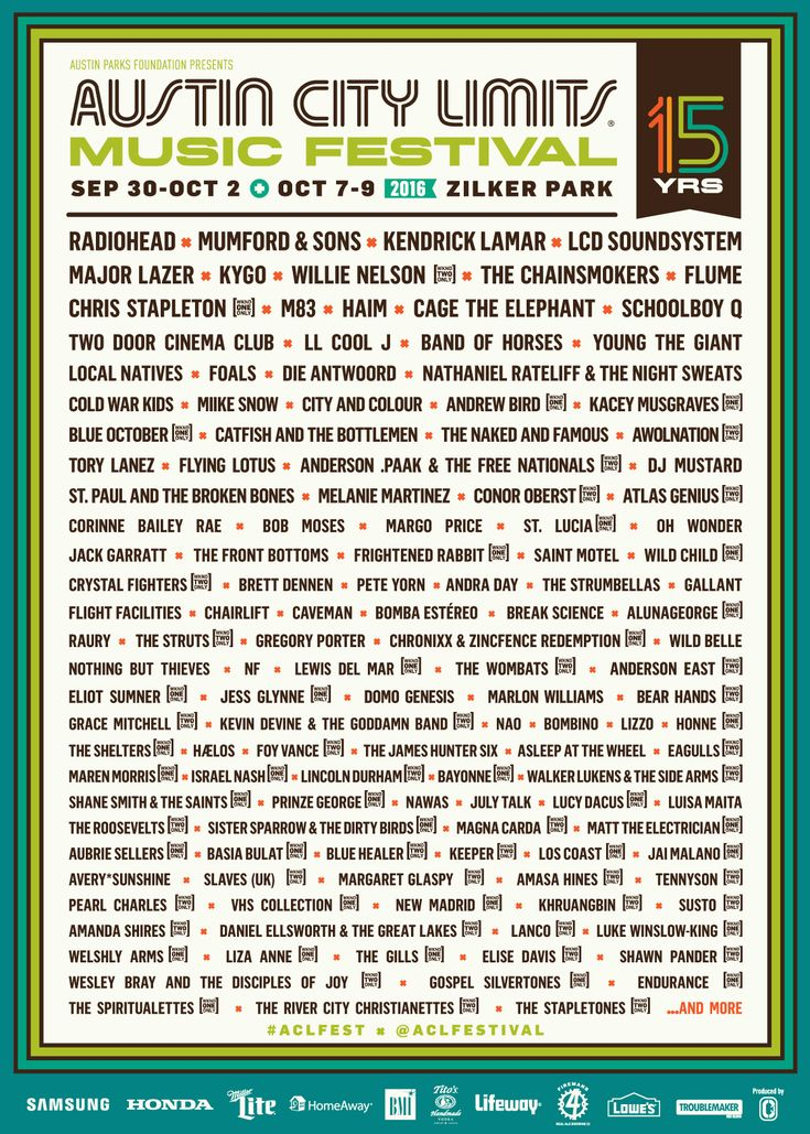 Austin City Limits' 2016 Lineup: One Day Later