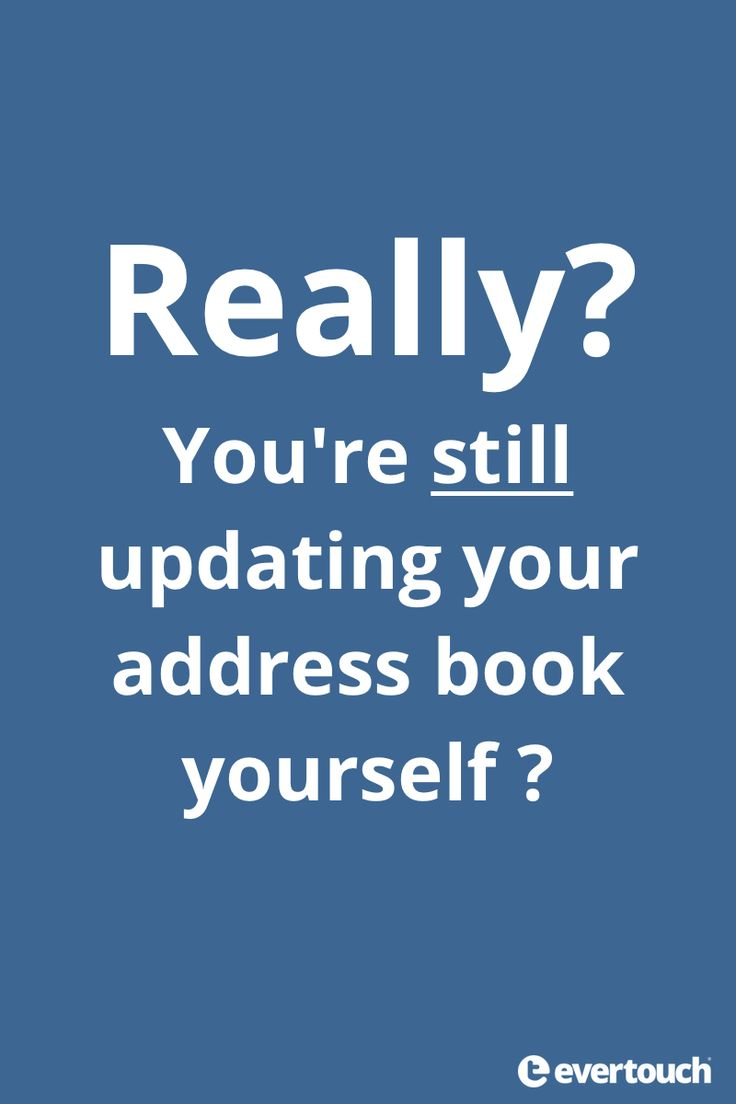 Why update your address book yourself? Let evertouch and your friends do it for you!   Download and try it now. Invite your friends. App Store:  http://evertou.ch/1KwtJtd Google Play:  http://evertou.ch/1FSAUe2