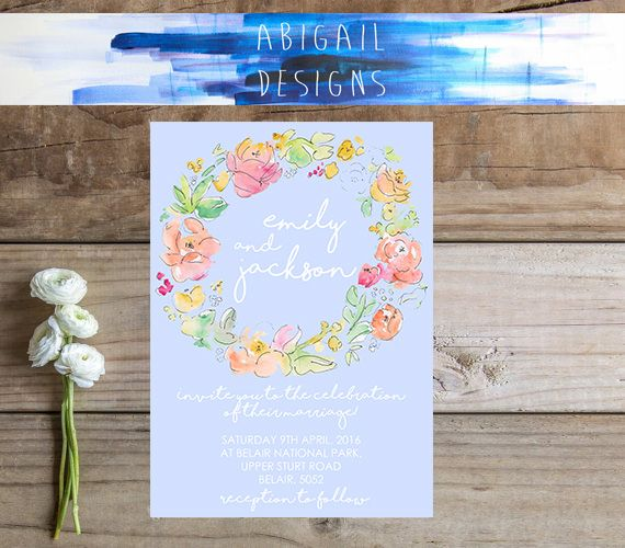 Our sweet 'Dusty Blue' wedding invitation suite. We also have a details, rsvp and thank you card. . . . . . #abigaildesigns #smallbusiness #weddinginvitation #invitationsuite #dustyblue #etsy #etsyshop #etsylove #etsyaus #floral #floralwreath #wreath #boho #chic #hippy #hipster