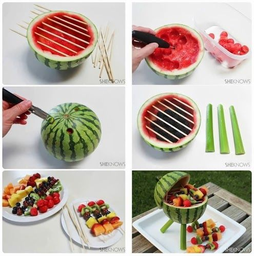 BBQ Grill made of fruit
