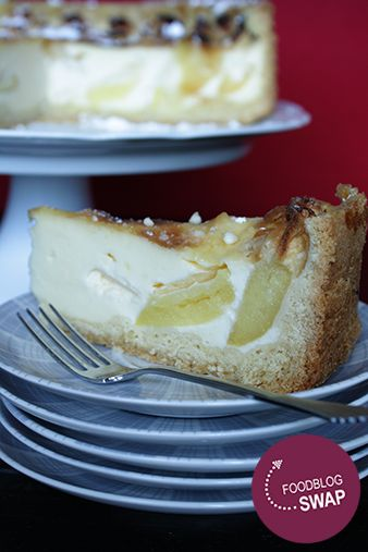 FoodblogSwap: Appel vanillepudding taart | HandmadebyHelen