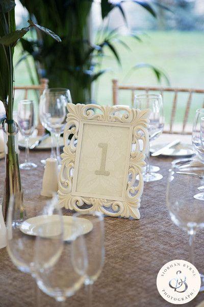 Pavilion wedding table set up