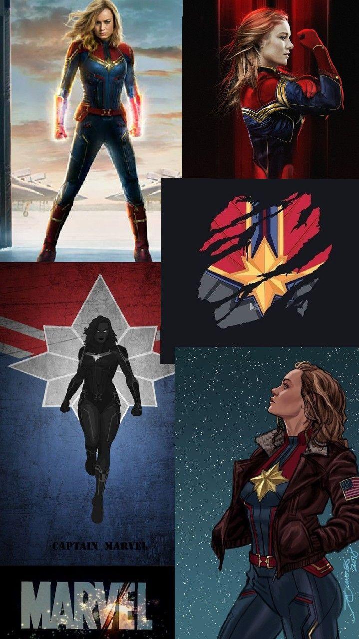 капитан марвел коллаж/ обои для телефона   Movie posters ...
