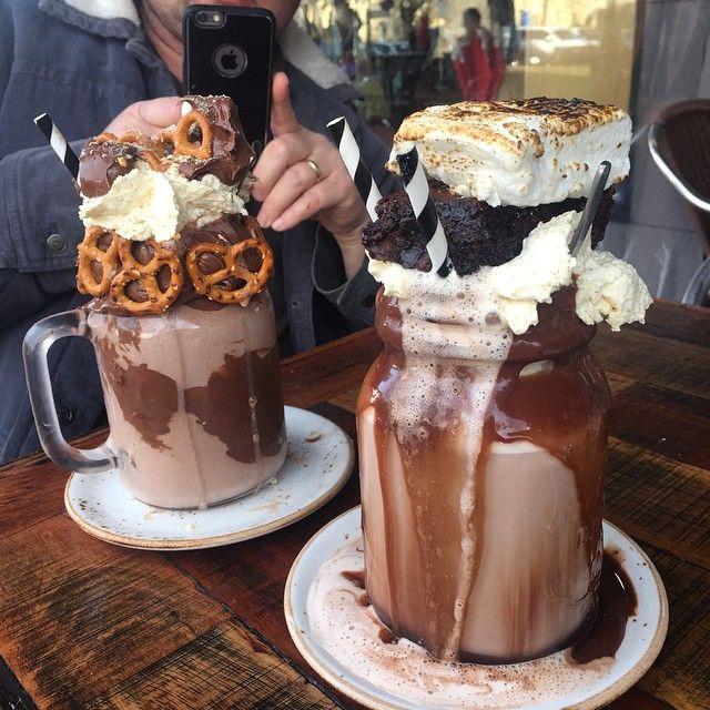 A cafe's epic 'freak' milkshakes are blowing up on social media  Yummy #patissez #canberra  @elliethiess - the freak show milkshakes