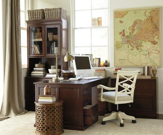 Stylish Home Office Accessories: Stylish Masculine Home Office Decorations Ideas